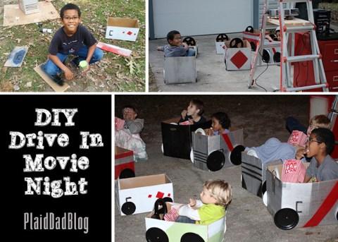 DIY Drive-In Movie Night | PaidDadBlog