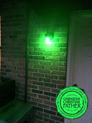 Green Light on Porch