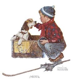 Norman Rockwell Christmas & Twas The Night Before Christmas Poem For Pets & Pet TIps