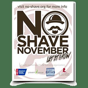 No Shave November Flyer