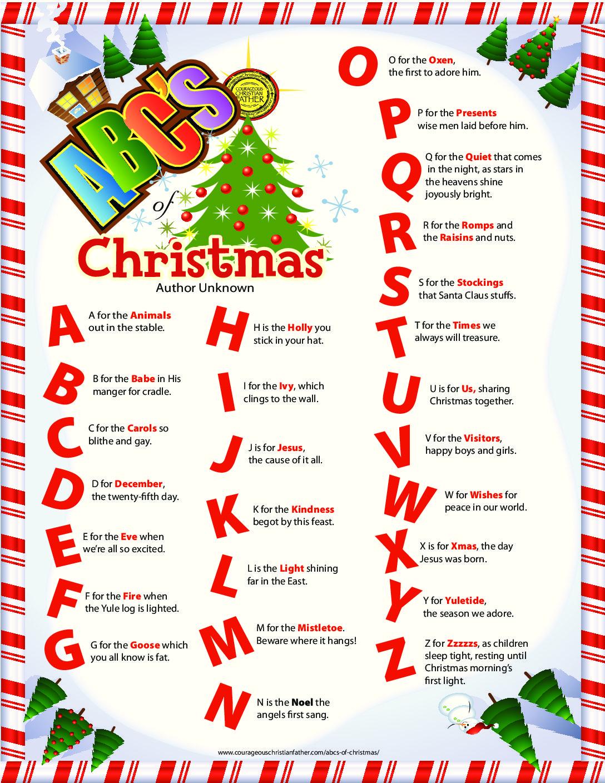 Abc S Of Christmas
