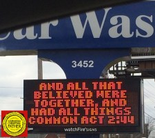 Things In Common Car Wash Sign