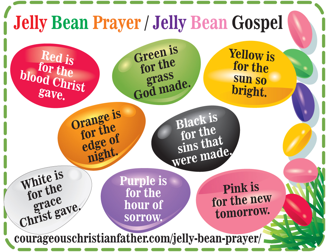 image about Jelly Belly Logo Printable called Jelly Bean Prayer - Jelly Bean Gospel - Printable - Easter