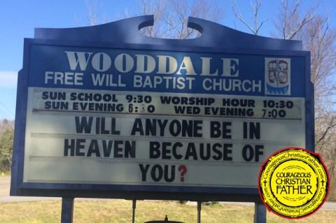 will anyone church sign