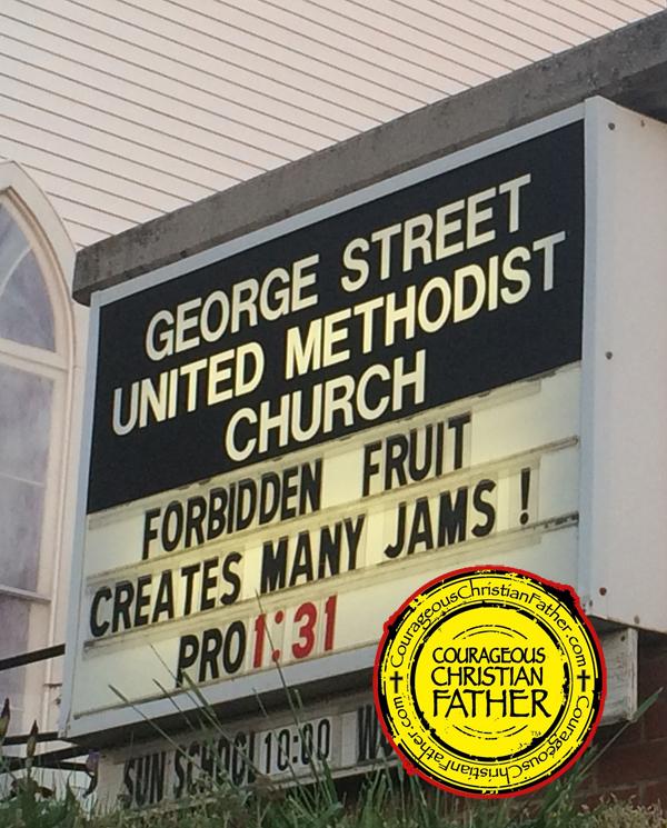 Forbidden Fruit Creates Many Jams! Proverbs 1:31