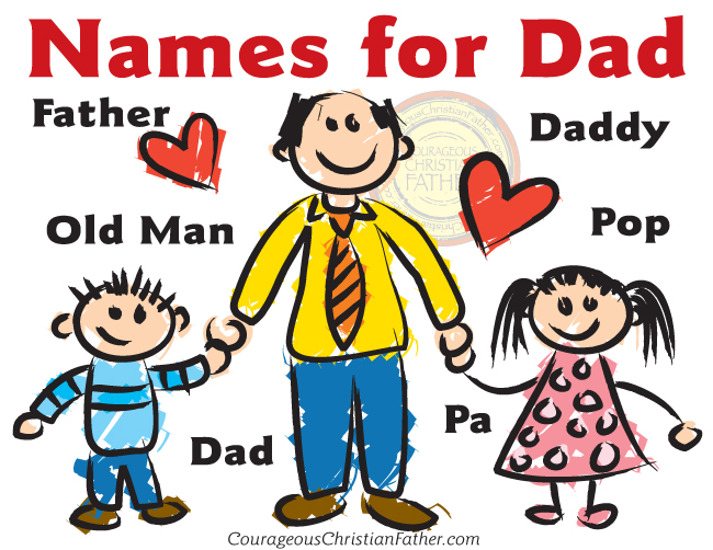 Names for Dad (Free Printable)