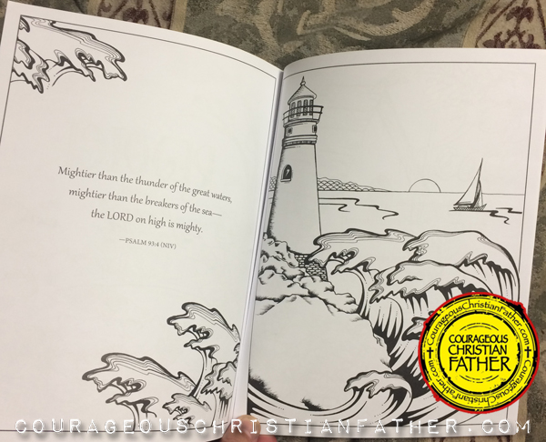 InkSpiration Fruit of the Spirit Adult Coloring Book - Inside Lighthouse Scene