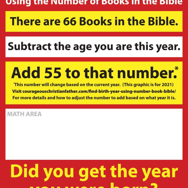 Find your Birth Year using the books of the Bible 2017