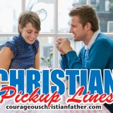 Christian Pick Up Lines - Dating Couple - Do you like Christian Humor? How about Christian Humor about dating? Check out some of these funny, cheesy or even weird Christian Pick Up Lines (over 40!) #ChristianPickUpLines