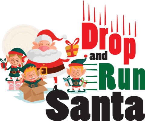 Drop and Run Santa