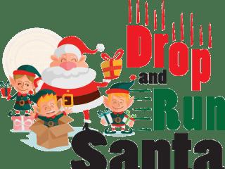 Drop and Run Santa
