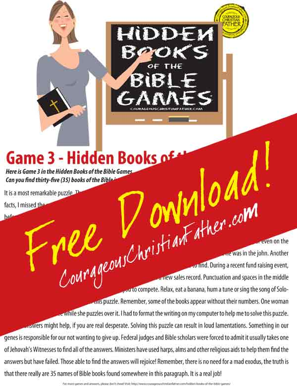 Hidden Books of the Bible - Game 3 (click image to download)