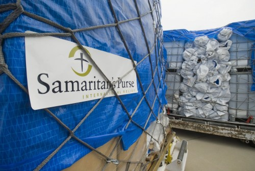 Samaritan's Purse is an international Christian relief organization working in more than 100 countries to provide aid to victims of war, disease, natural disaster, poverty, famine and persecution. (sample of what may be sent to Haiti)
