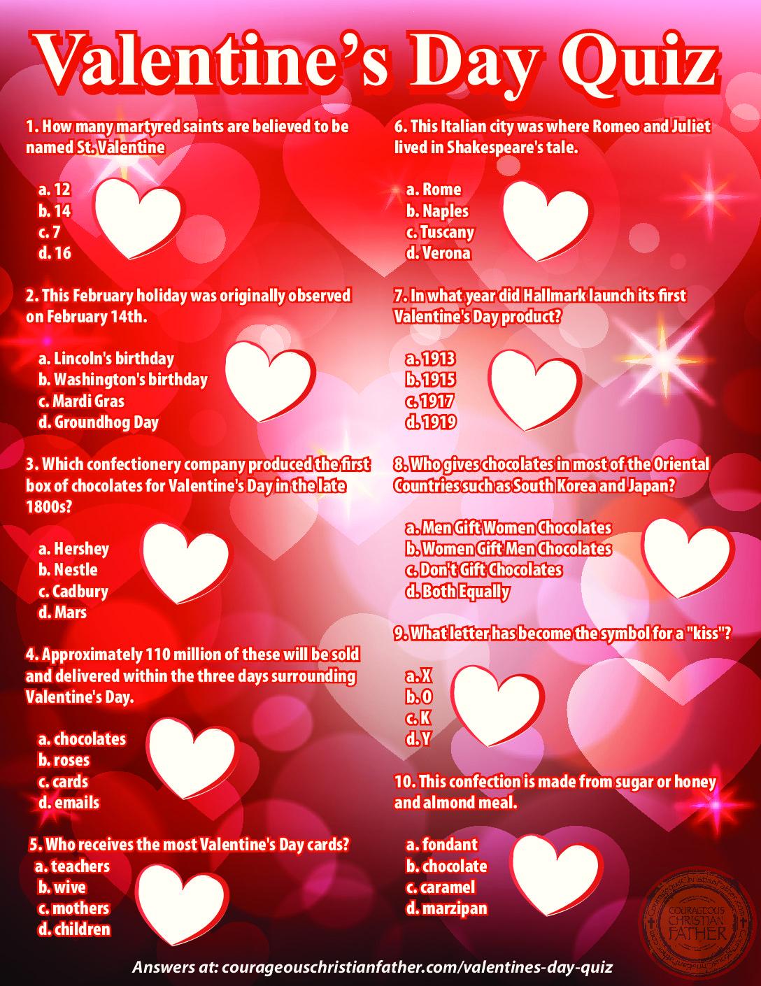 graphic regarding Mardi Gras Trivia Quiz Printable identify Valentines Working day Quiz Brave Christian Dad