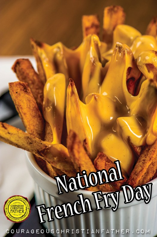 National French Fry Day a day for those people who love the deep-fried potato. Sometimes you can make them too, but most of them are deep-fried goodness. 🍟 #NationalFrenchFryDay