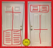 6 Panel Door (Bible and Cross Door) Cross Door - Bible Door