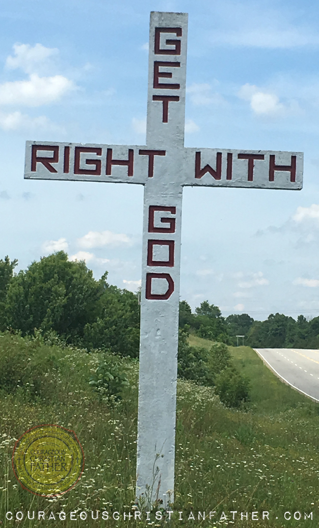 Get Right With God Stone Cross