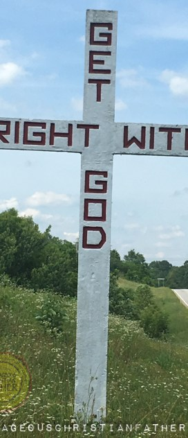 Get Right With God Stone Cross IN Tazewell, TN made by Reverend Harrison Mayes of Middlesboro, KY