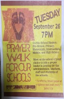 Prayer Walk for our Schools - Corbin, KY - Central Baptist Corbin Flyer