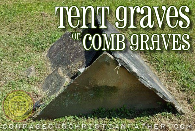 Tent Graves or Comb Graves at Red Bird Baptist Church in Williamsburg, KY