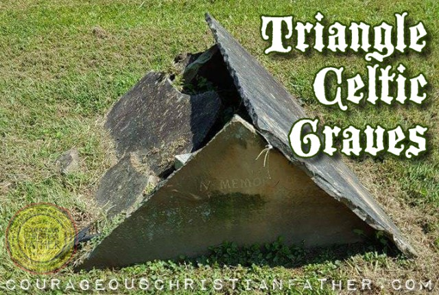 Triangle Celtic Graves at the Red Bird Baptist Church cemetery #TriangleCelticGraves
