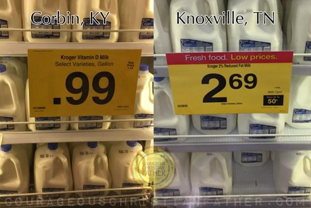 99¢ Milk vs $2.69 Milk at Kroger