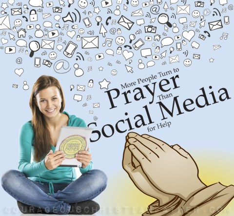 More People Turn To Prayer Than Social Media