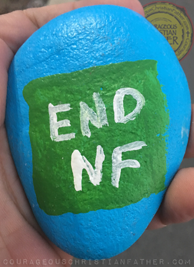 End NF Kindness Rock (Neurofibromatosis)