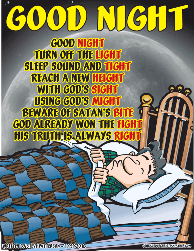 Good Night Poem written by Steve Patterson