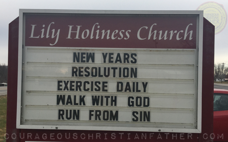 Walk with God - Run from Sin Church Sign