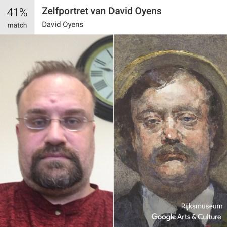 Zelfportret van David Oyens - Google Art and Culture App #MuseumDoppelganger #Doppelganger