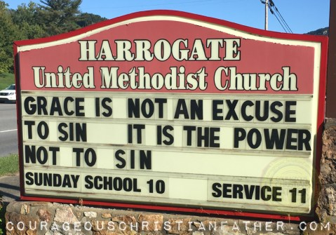 Grace is not an ecuse to sin - It is the power not to sin - Harrogate United Methodist Church