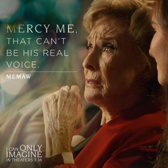 Mercy me that can't be his real voice. Memaw I Can Only Imagine #ICanOnlyImagine