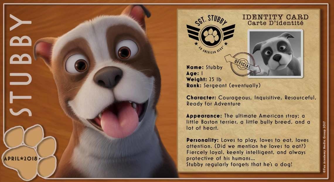 Sgt. Stubby Identity Card (ID Card) Carte D'identité   Credit: StubbyMovie