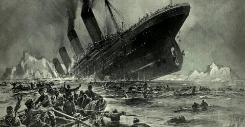 "Untergang der Titanic (""Sinking of the Titanic"") by Willy Stöwer, 1912"