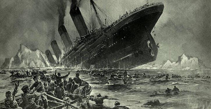 "Untergang der Titanic (""Sinking of the Titanic"") by Willy Stöwer, 1912"