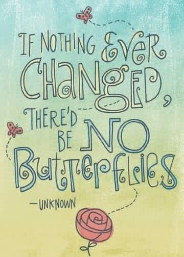 New Creation: If Nothing Ever changed there'd be no butterflies - unknown - (Butterfly)