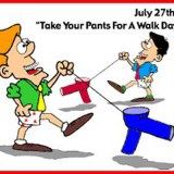 Take Your Pants For A Walk Day (Pants on a leash comic)