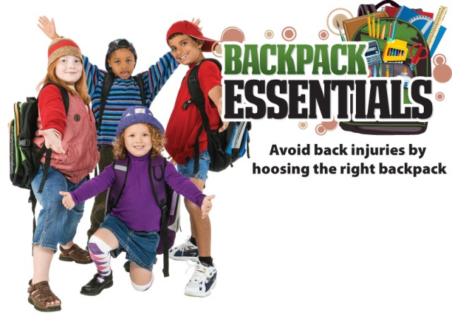 Backpack Essentials - Avoid back injuries by choosing the right backpack