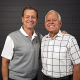 Johnny Hunt, right, longtime pastor of First Baptist Church Woodstock, Ga., and past president of the Southern Baptist Convention (SBC), will join the North American Mission Board (NAMB) as senior vice president of evangelism and leadership. Hunt and NAMB announced the news Sunday, Aug. 26. Here, Hunt is pictured with NAMB president Kevin Ezell. NAMB Photo by Hayley Catt.