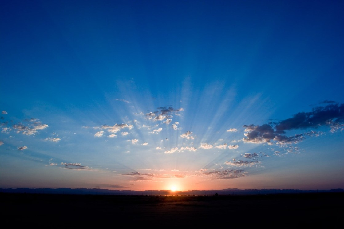 Best Way to Start the Day - Is not Folgers In Your Cup, this blog post shares what the best way is to start that day. (sunrise)
