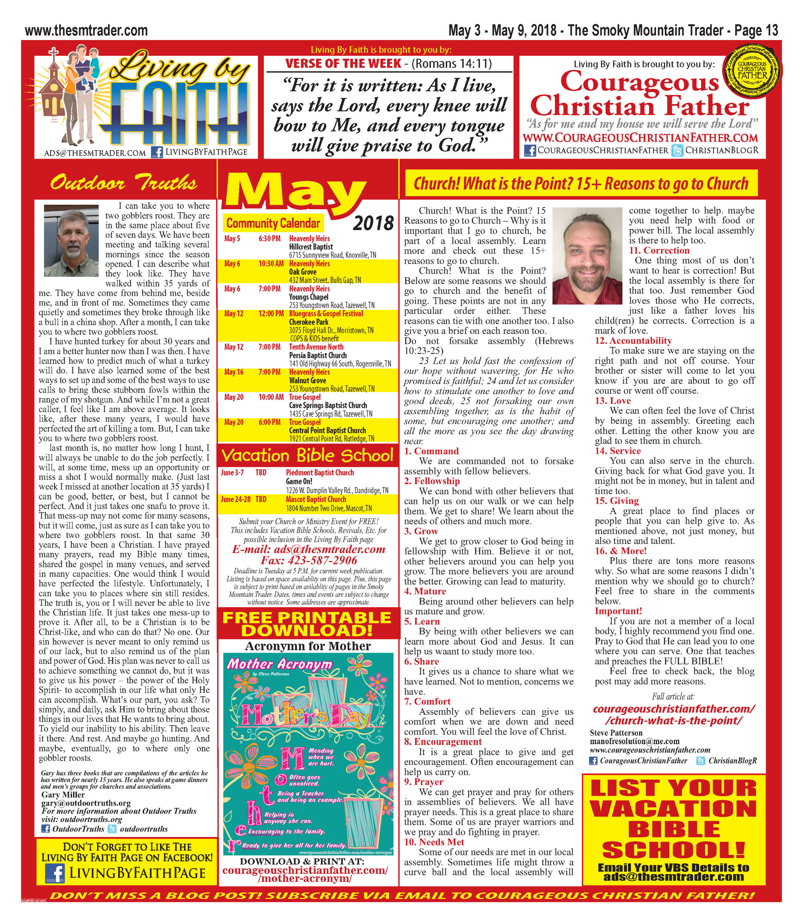 Living by Faith Page