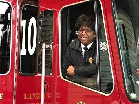 Knoxville Fire Department Twitter Photo: Jaquetta Brooks Retires