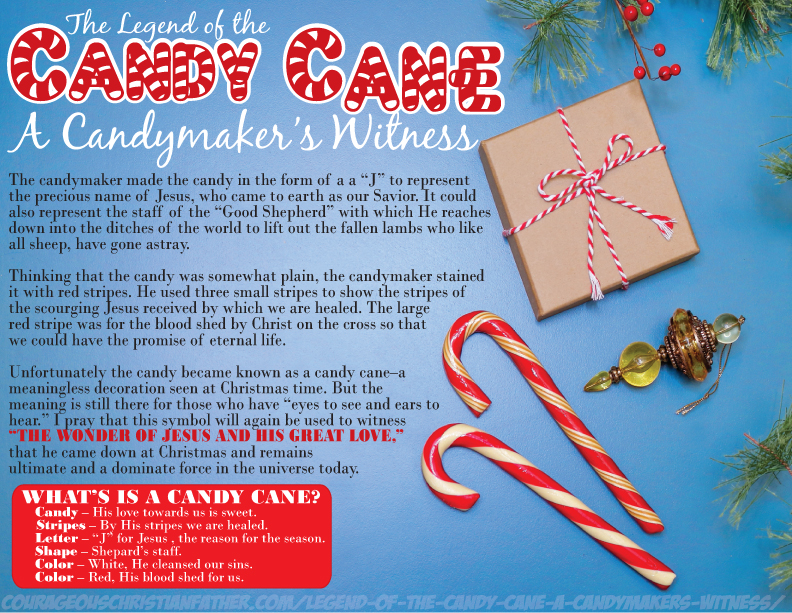 Legend of the Candy Cane A Candy Makers Witness Printable