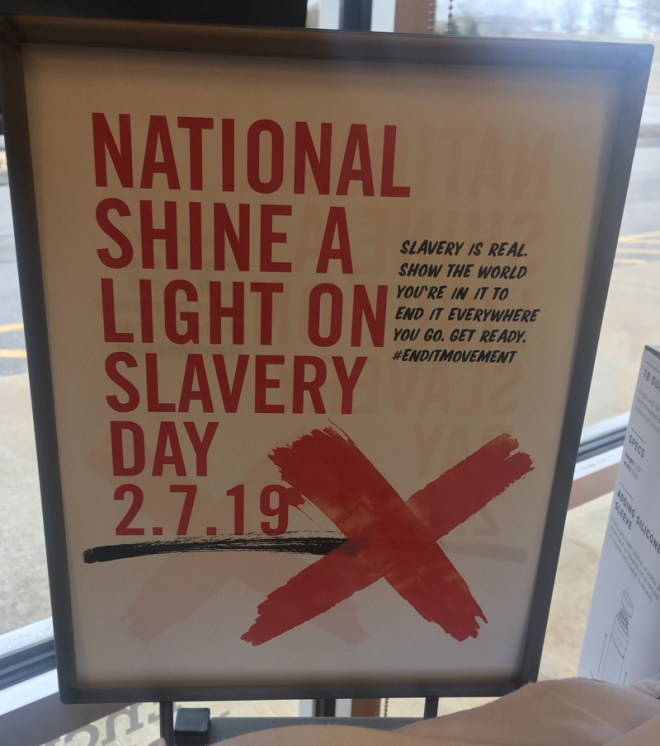 National Shine A Light on Slavery Day - Slavery is real. Show the world you're in it to end it everywhere you go. Get ready. #EndItMovement