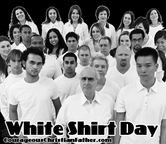 White Shirt Day - Time to wear a bright white shirt to pay honor to this one strike. #NationalWhiteShirtDay