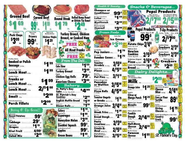 Hub Market Grocery Store Flyer (Inside)