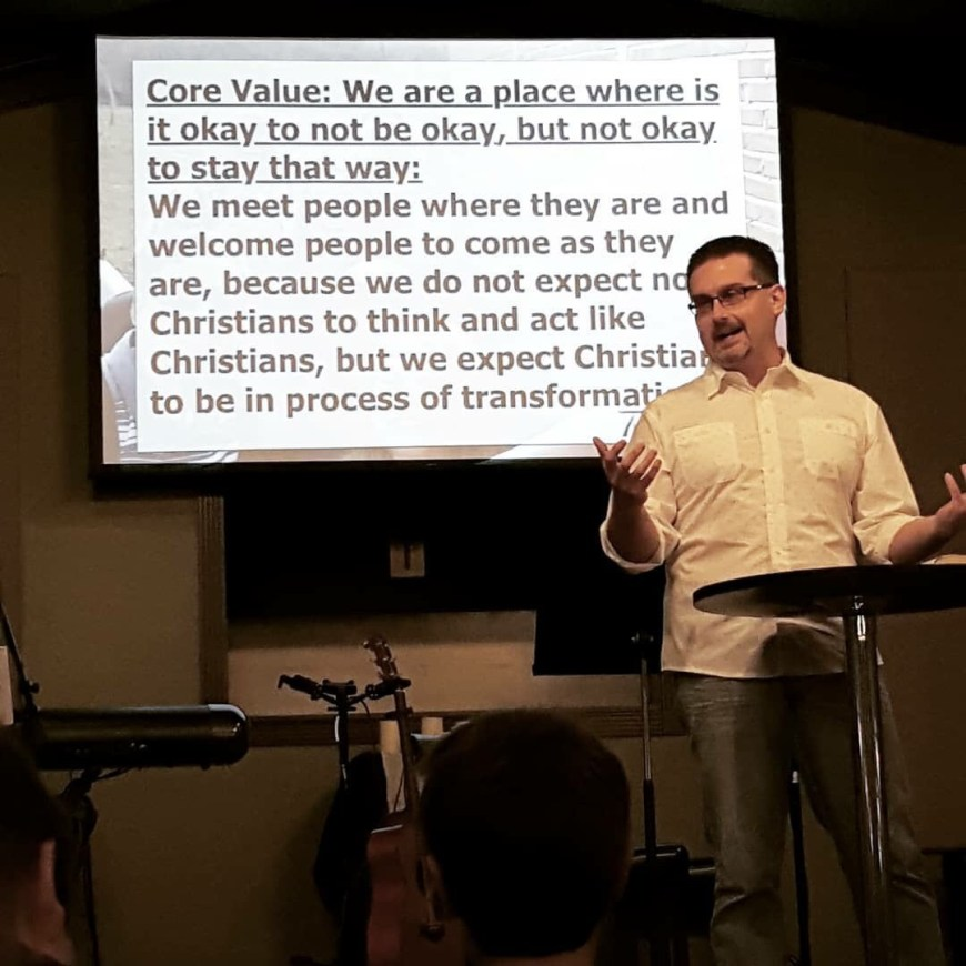 We are a place where it is okay not to be okay, but not okay to stay that way. (Pastor Jimmy Inman, Teaching Pastor of True Life Church) | Photo Credit: Heather Patterson