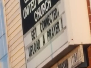 Get Connected, Upload a Prayer! George Street United Methodist Church - Church Sign | Photo Credit Heather Patterson