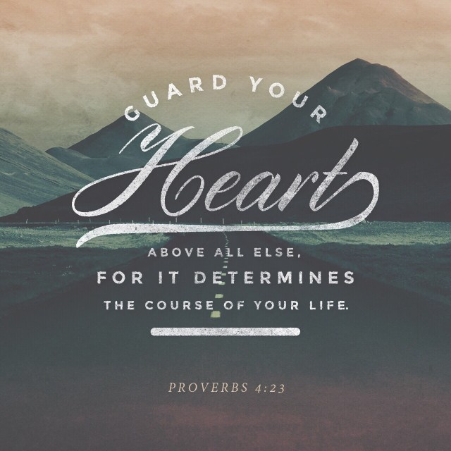 VOTD July 11, 2019 - Watch over your heart with all diligence, For from it flow the springs of life. PROVERBS 4:23 NASB